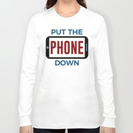 Less Phone More Connection Human Touch Long Sleeve T-shirt