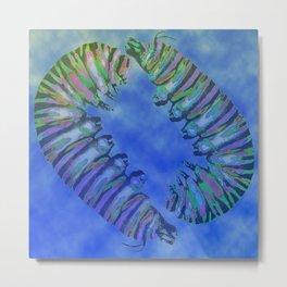 Two Caterpillars Metal Print