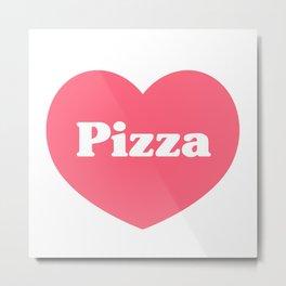 Heart Pizza Metal Print