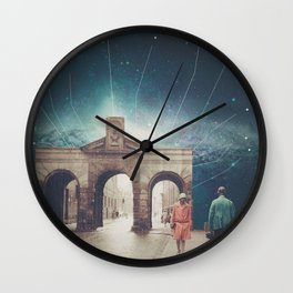 We met as Time Travellers Wall Clock