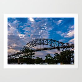 Bourne Bridge View Art Print