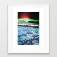 northern lights Framed Art Prints featuring Northern Lights by John Turck