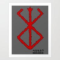 berserk Art Prints featuring Berserk Sacrifice by Vortha