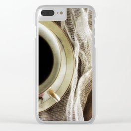 But First - Coffee! Clear iPhone Case