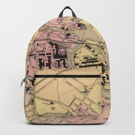 Vintage Map of Saco & Biddeford ME (1885) Backpack