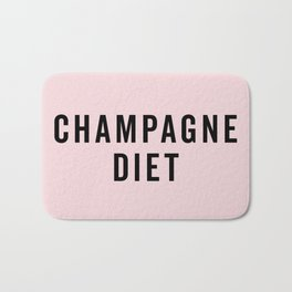 Champagne Diet Funny Quote Bath Mat