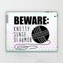funny crochet knit humor knitting yarn skein ball  Laptop & iPad Skin