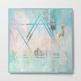 Star of David | Minimalist | Abstract | Modern | Shapes | Geometrix Metal Print