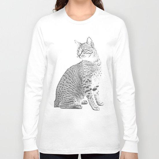 Cat Sketch Long Sleeve T-shirt