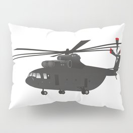 Black Heavy Helicopter Mi-26 Pillow Sham