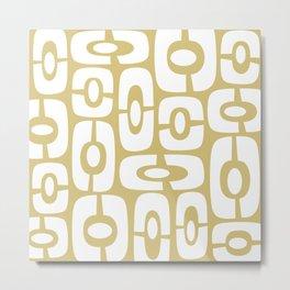 Mid Century Modern Cosmic Abstract 240 Gold Metal Print
