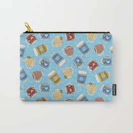 Cozy Mugs - Bg Blue Wood Carry-All Pouch