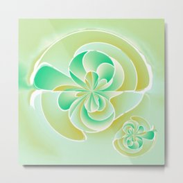 Irregular floral shapes Metal Print