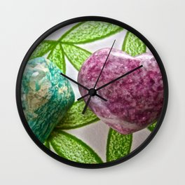 Amazonite and Lepidolite Vibrations - The Peace Collection Wall Clock