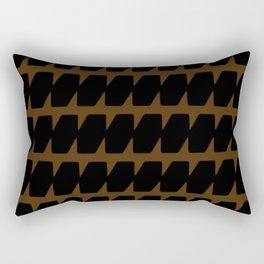 Black & Tan Dog Tooth Design Rectangular Pillow