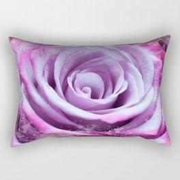 Rose of Love #Pink #Purple #art #society6 Rectangular Pillow