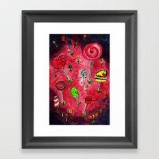 Candy Wonderland. Framed Art Print