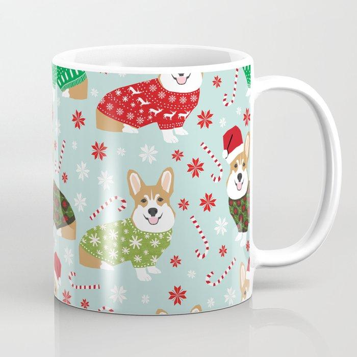 Corgi Sweater Christmas Ugly Sweaters Dog Breed Welsh Corgis Holiday Coffee Mug