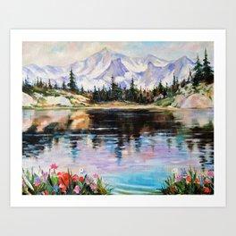 Landscape above the river Art Print