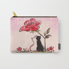 Rose tree couple cats Carry-All Pouch