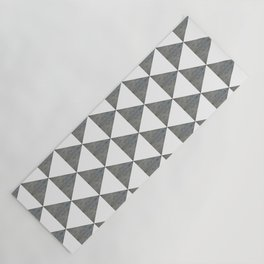 Cement White Triangles Yoga Mat
