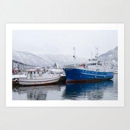 Boats in Tromso Art Print