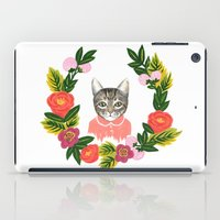 leah flores iPad Cases featuring Scout con Flores by Leah Romero