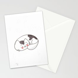 Cat Pun Shirt Is It Nap Time Meow Kawaii Kitty Stationery Cards
