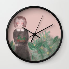 Plant Lady Wall Clock