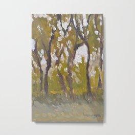 Trees in Shade Painting Metal Print