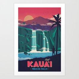 Wailua Falls Canvas Print Art Print
