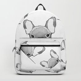 Hiding Frenchy  - white Backpack