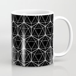 Icosahedron Pattern Black Coffee Mug