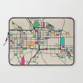 Colorful City Maps: San Bernardino, California Laptop Sleeve