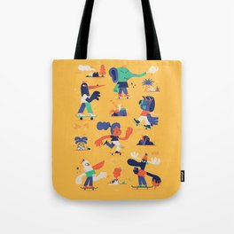 Summer and Skate Tote Bag