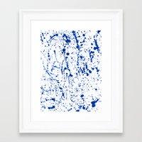 splatter Framed Art Prints featuring Splatter by Amy Sia