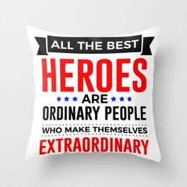 Super Heroes Superheroes Extraordinary Powers Throw Pillow