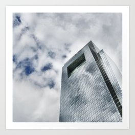 Cloudy Reflections Art Print