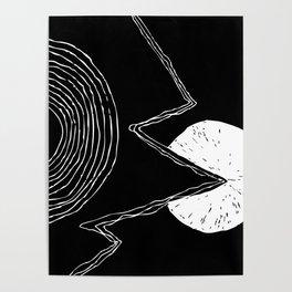 Minimal Sun Pacman Poster