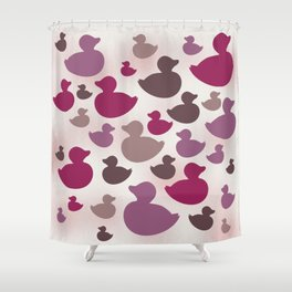 AL AQUA DUCK: Lipstick Shower Curtain