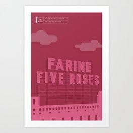 Made in MTL 0004: Five Roses Art Print