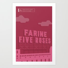 Made in MTL 0004: Five Roses Art Print