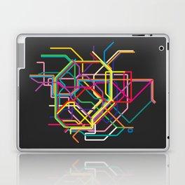 tokyo metro map Laptop & iPad Skin