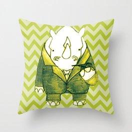 Rhino Recherche Throw Pillow