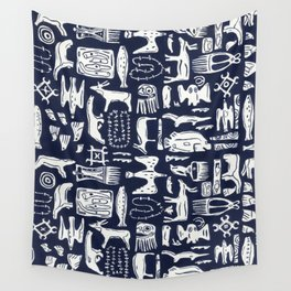 Inuit Eskimo Carvings by Nettwork2Design - Nettie Heron-Middleton Wall Tapestry