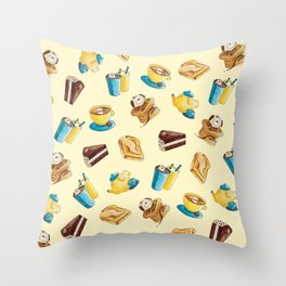 Wooferteria Throw Pillow