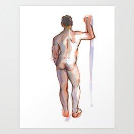 PATRICK, Nude Male by Frank-Joseph Art Print