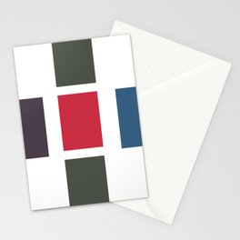 Bold brushstrokes with mosaic stripes Stationery Cards