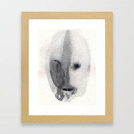 Remembering a face Framed Art Print