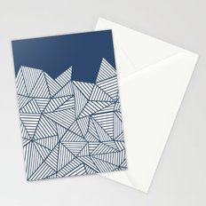 Abstract Mountain Navy Stationery Cards
